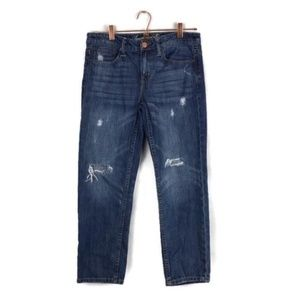 AMERICAN EAGLE distressed crop jeans size 4